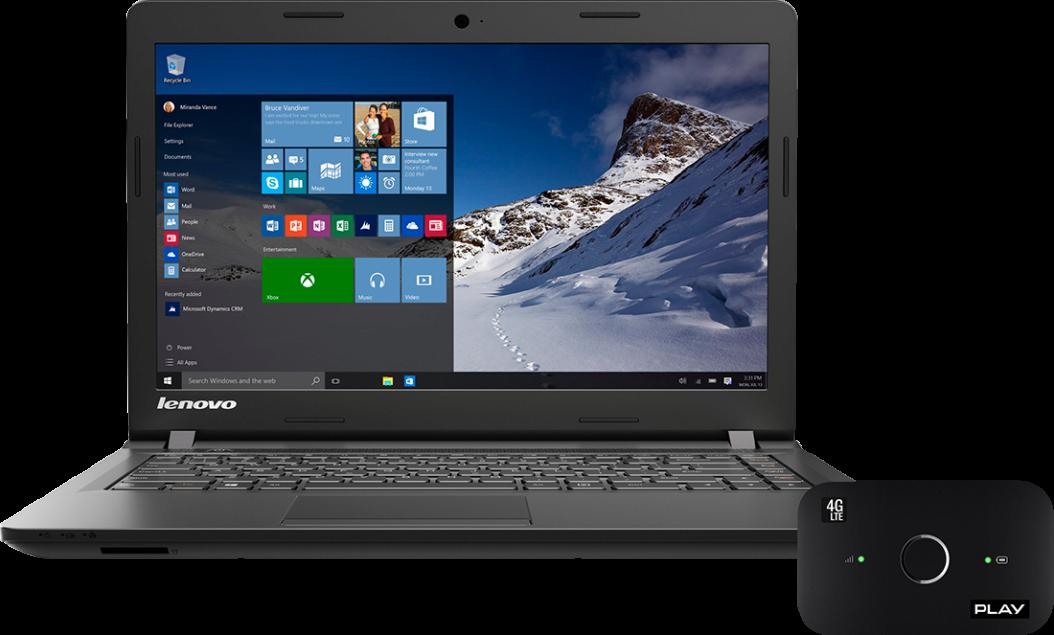 Lenovo IdeaPad 100 Core i3 i 1TB HDD + router LTE