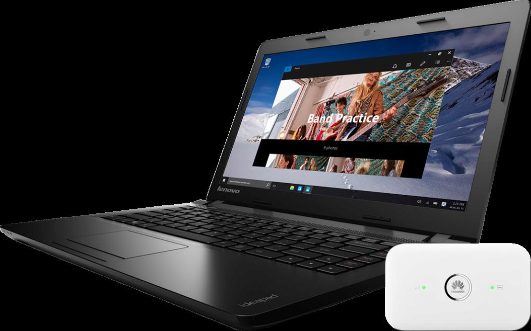 Lenovo IdeaPad 100 500 GB + Router E5573 LTE