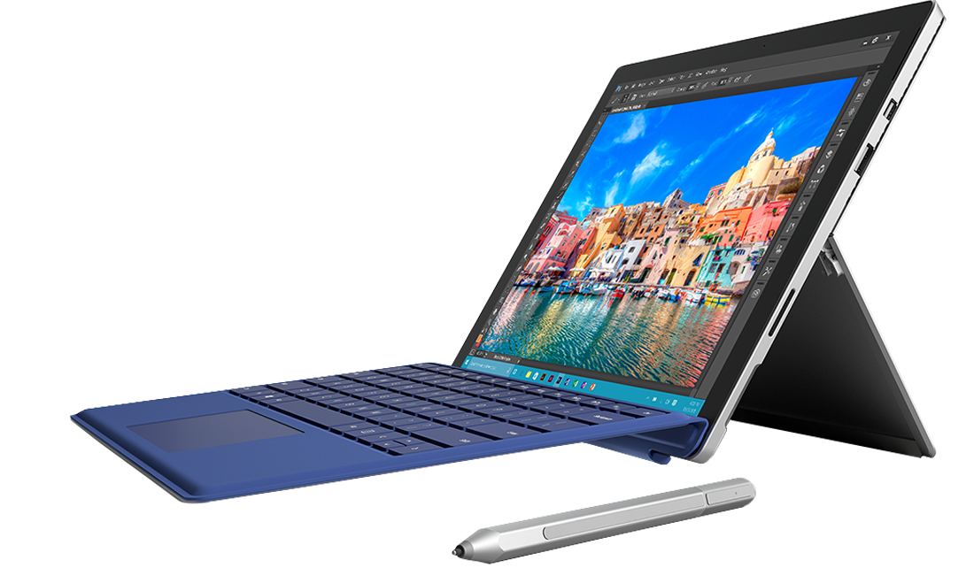 Microsoft Surface 4 Pro + klawiatura + rysik + router LinkZone