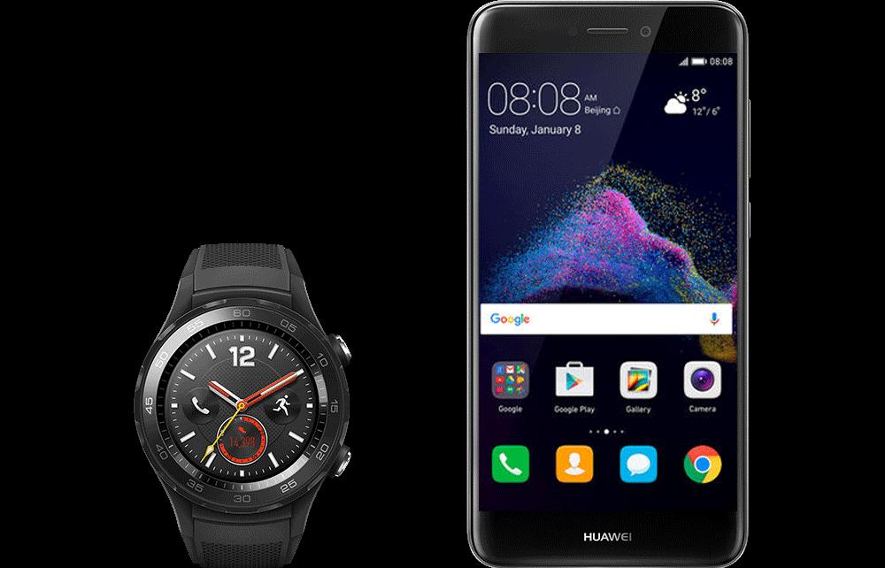 Huawei Watch 2 + P9 lite (2017) DS