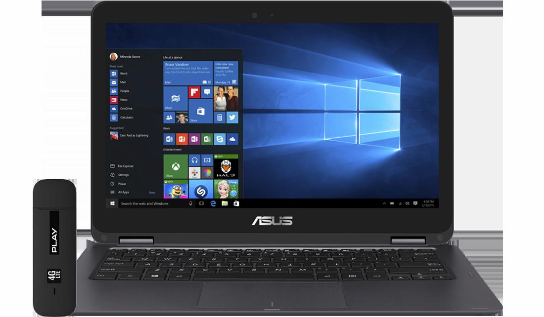 Laptop Asus UX360 + modem E3372