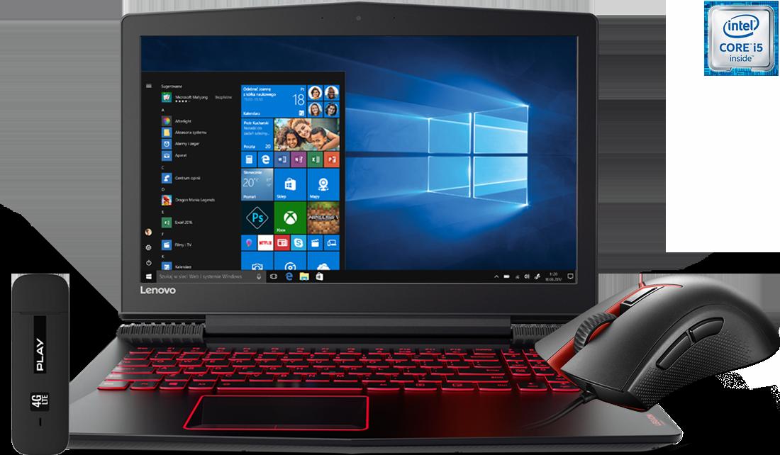 Laptop Lenovo Legion Y520 i5 + modem E3372 + mysz