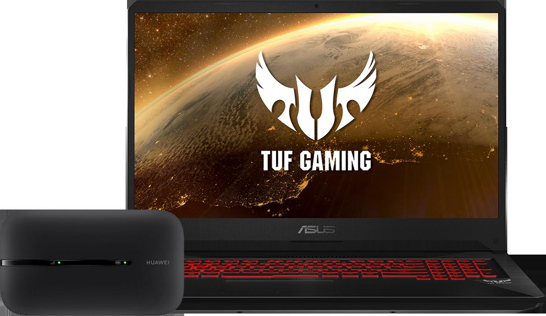 Laptop Asus FX705DT + router  E5576