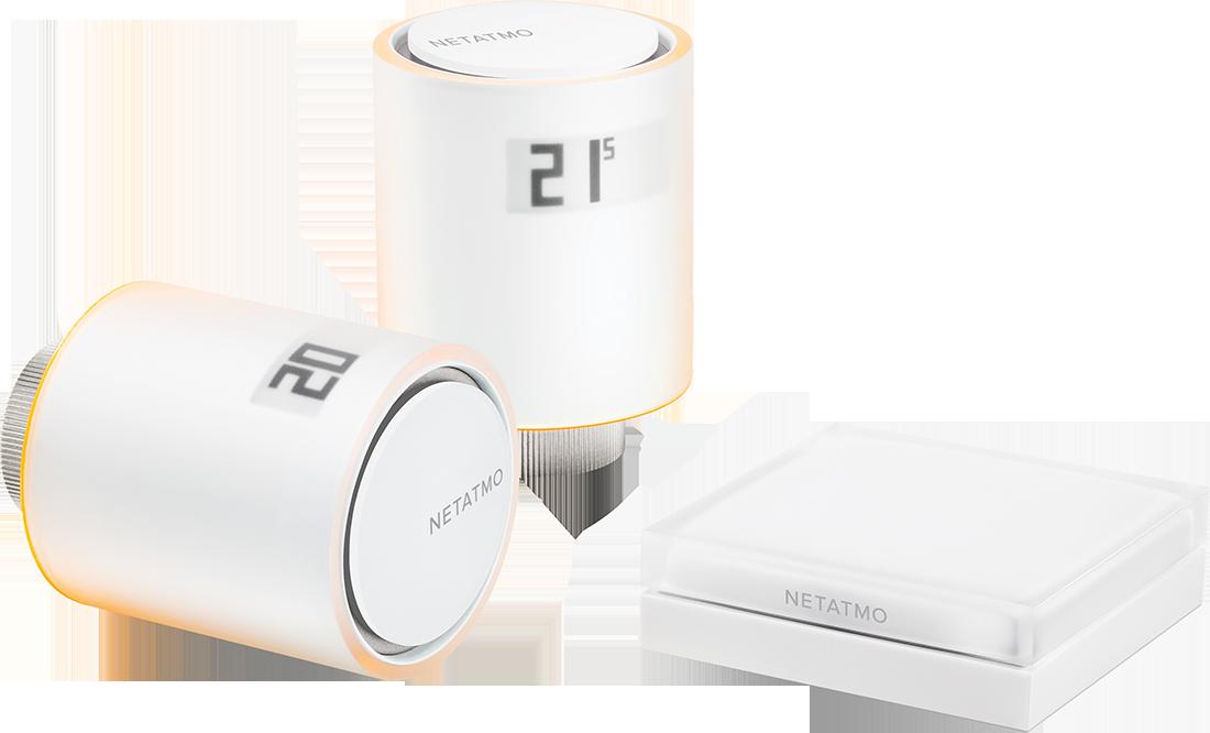 Netatmo Valves Set (zestaw startowy inteligentnych głowic termostatycznych do mieszkania)