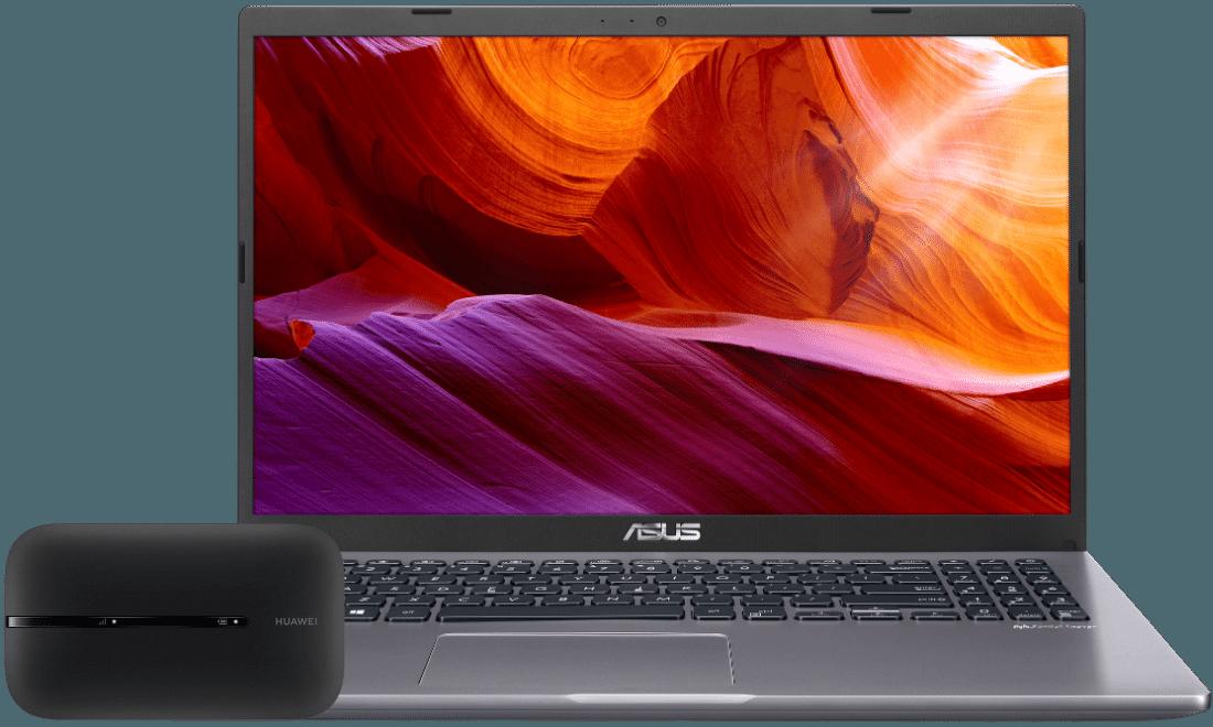 Laptop Asus X509JA-BQ084T + router E5783