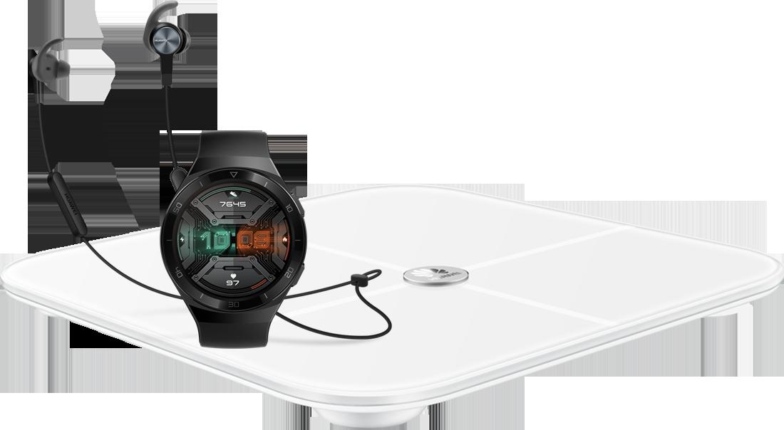 Huawei Watch GT 2e + Huawei Smart Scale AH100 + Huawei AM61 Sport BT