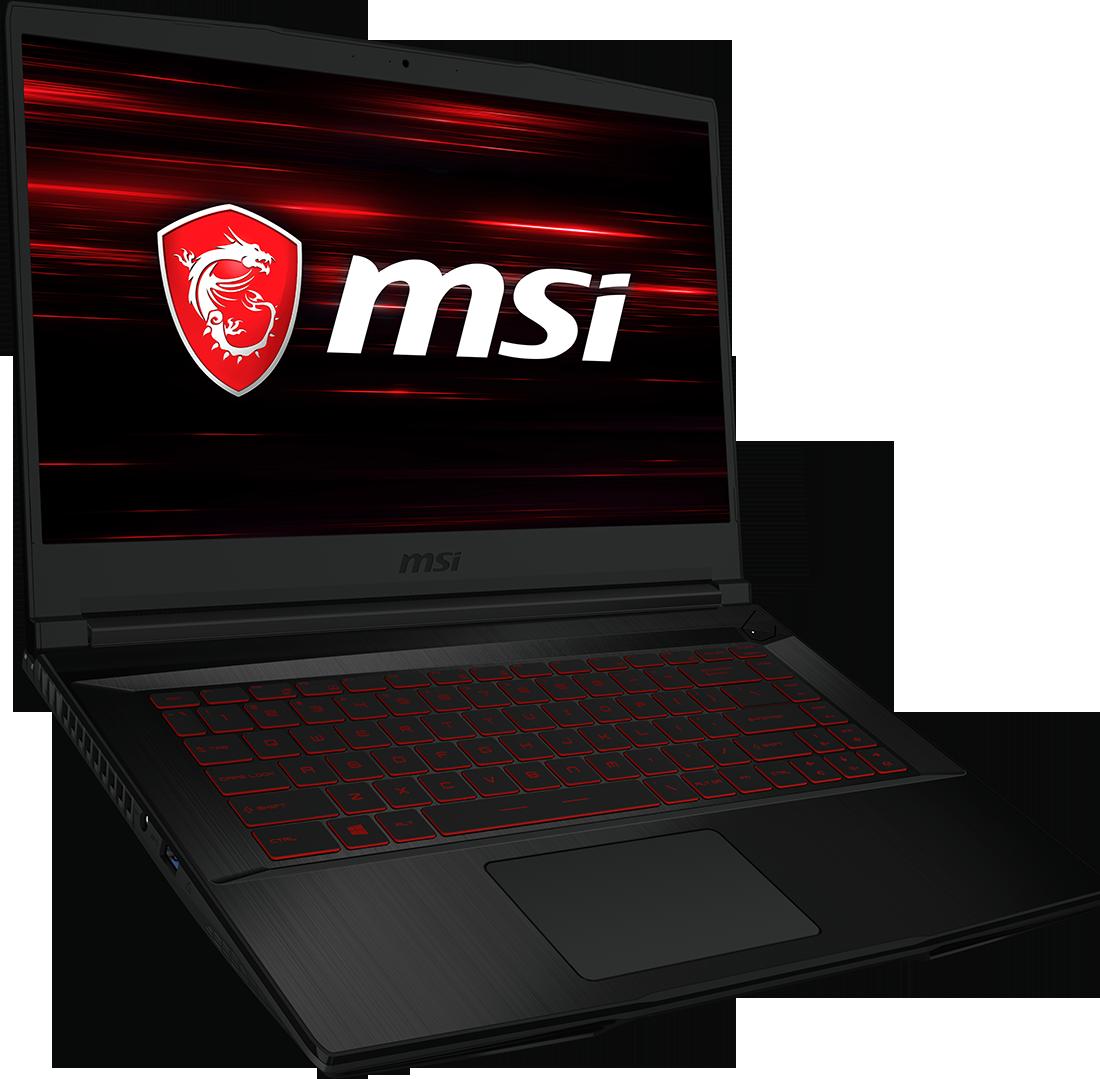 Laptop MSI GF63+E5573Cs + słuchawki + mysz UZZ