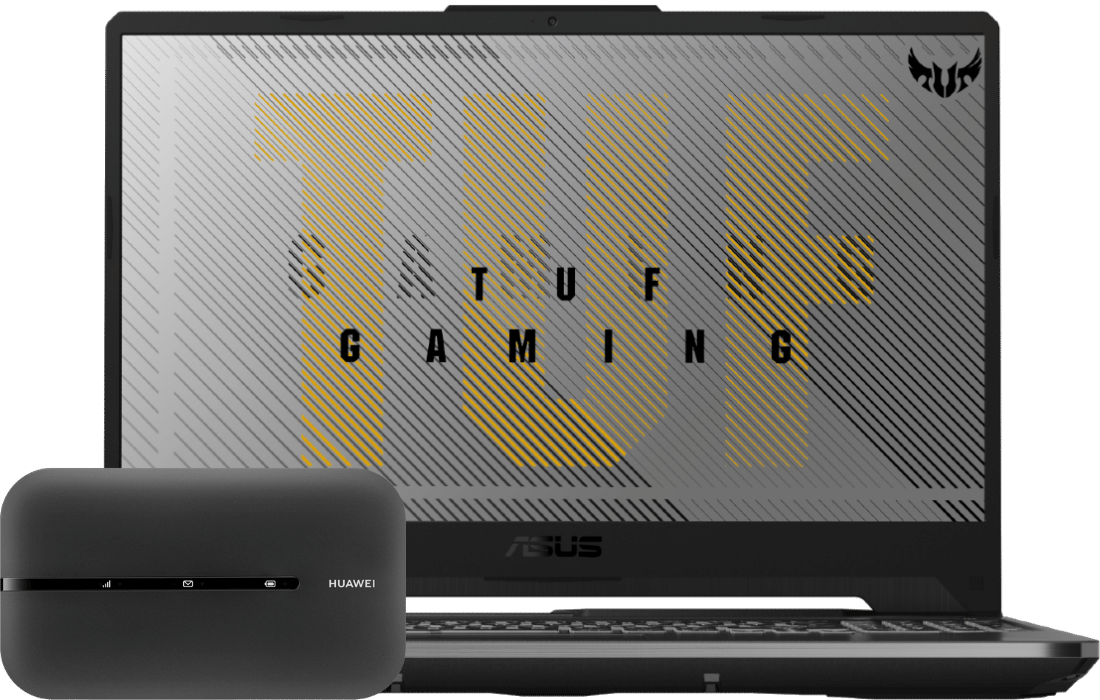 Laptop ASUS TUF Gaming A15 FA506II + router E5783