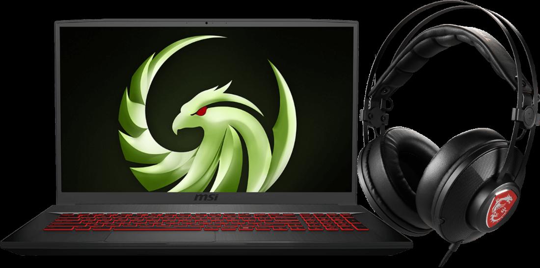 Laptop MSI Bravo17 A4DDR + słuchawki MSI H991