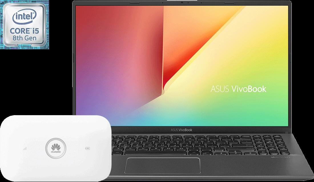 Laptop ASUS X512 i5 8GB + router E5573Cs UZZ